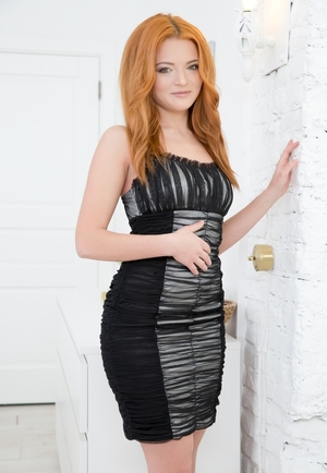 Smokin' hot ginger floozy Ketti strips for user and gets it on in an rectal way