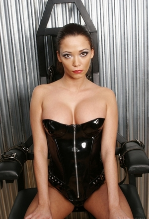 Light BDSM addicted lesbians in fishnet and additionally latex outfit play with sextoys