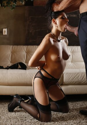 Sinful brunette copulates with horny Latin lover while husband is at work