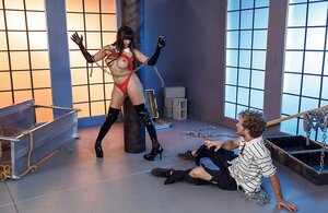 Latina lady is a wrong vampire who sucks no blood but sperm out of ramrod